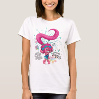 Trolls | Poppy Hello Happy T-Shirt