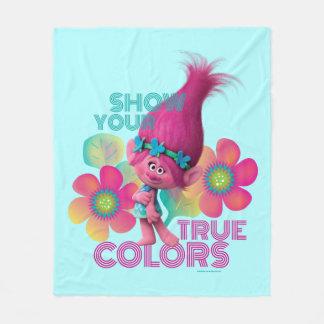 Poppy Troll Fleece Blankets   Zazzle