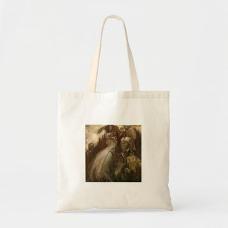 Trolls Pouring Water Down a Hill Tote Bag