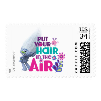 Trolls | Put Your Hair in the Air Postage Stamp