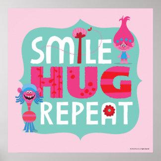 Trolls | Smile, Hug, Repeat Poster