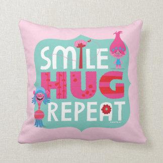 Trolls | Smile, Hug, Repeat Throw Pillow