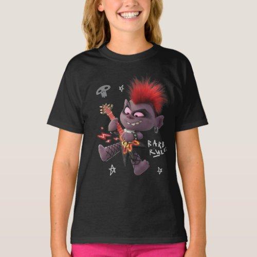 Trolls World Tour  Barb Shredding On Her Guitar T_Shirt