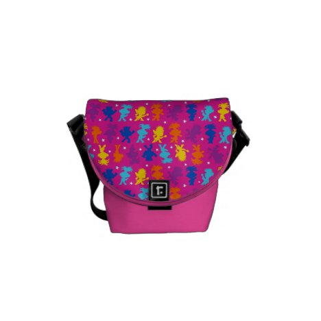 Trolls World Tour | Dancing Troll Shapes Pattern Messenger Bag