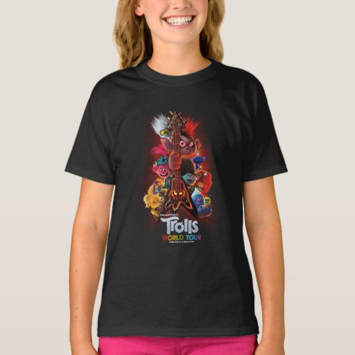 Trolls World Tour  Guitar Movie Poster T_Shirt