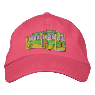 Trolly Car Embroidered Baseball Hat