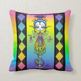 Trolly Pixie Stick Rainbow Troll Fairy BIG Pillow