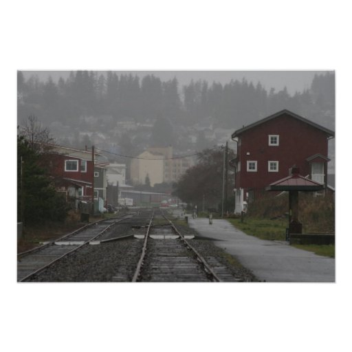 trolly tracks Astoria Oregon Coast Posters