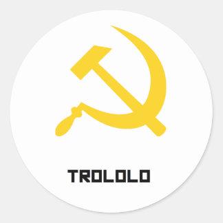 TROLOLO man Round Sticker