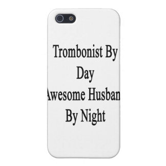 Trombón del marido impresionante del día por noche iPhone 5 carcasas