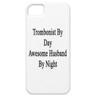 Trombón del marido impresionante del día por noche iPhone 5 funda