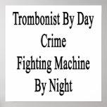 Trombón por la máquina que lucha del crimen del dí poster
