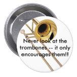 Trombone 3 Inch Round Button