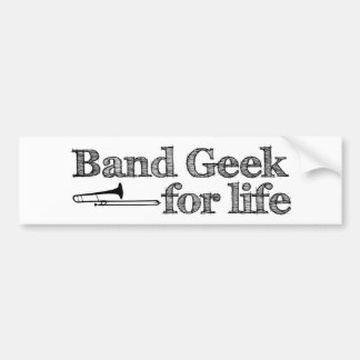 Trombone Band Geek Bumper Sticker
