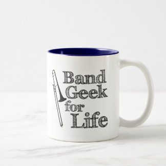 Trombone Band Geek Two-Tone Coffee Mug