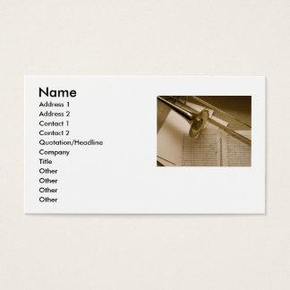 Trombone business card