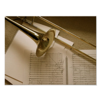 Trombone canvas print