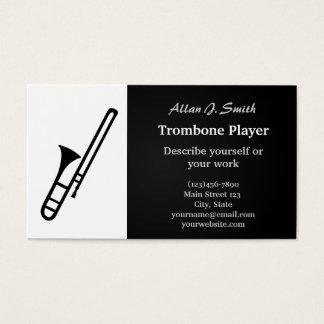 Trombone cartoon business cards
