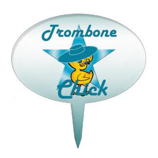 Trombone Chick #7 Cake Topper