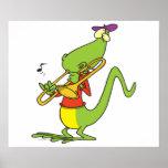 trombone chillón que juega el dibujo animado del l poster