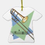 trombone christmas tree ornament