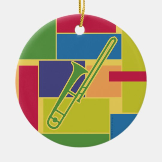 Trombone Colorblocks Ornament