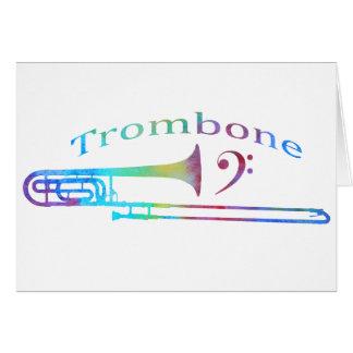 Trombone con el Clef bajo Tarjeta De Felicitación