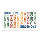 Trombone Cute Colorful Double-Sided Standard Business Cards (Pack Of 100)