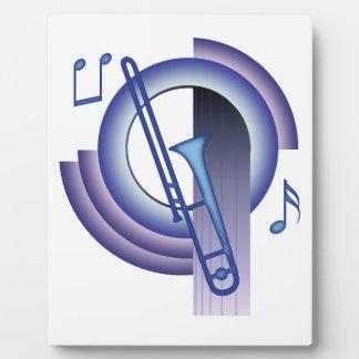 Trombone de Deco Placa Para Mostrar