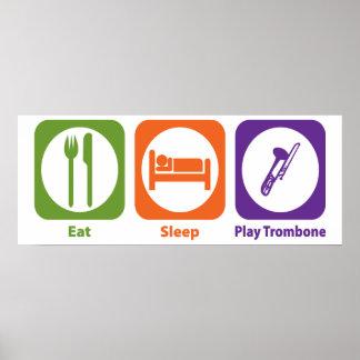 Trombone de Eat Sleep Play Posters