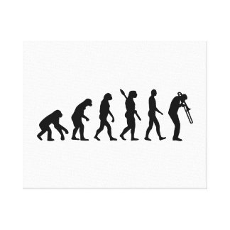 Trombone de la evolución impresión en tela