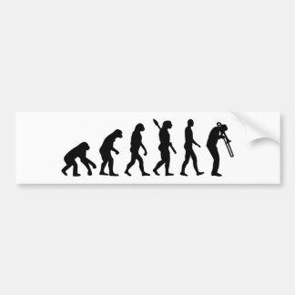 Trombone de la evolución pegatina para auto