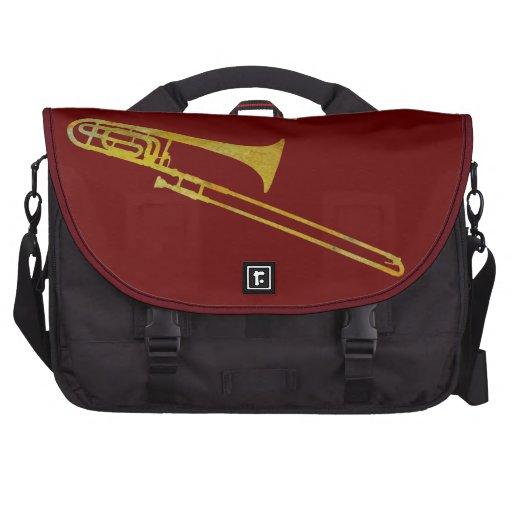 Trombone de oro bolsas de portátil