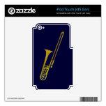 Trombone de oro calcomanía para iPod touch 4G
