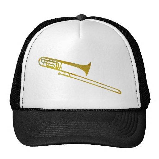 Trombone de oro gorras