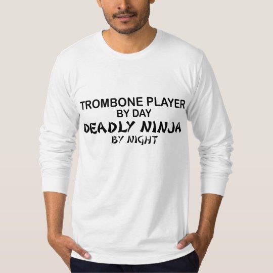 Trombone Deadly Ninja by Night T-Shirt