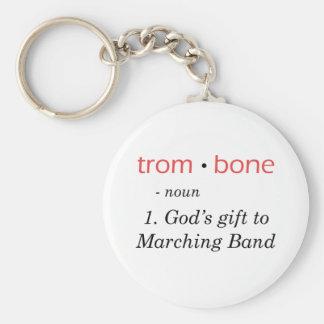 Trombone - definición llavero redondo tipo pin