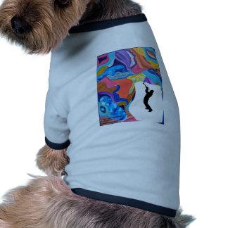 Trombone del flor camiseta con mangas para perro
