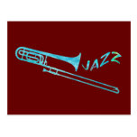 Trombone del jazz tarjetas postales