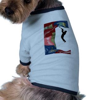 Trombone del remiendo camiseta con mangas para perro