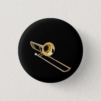 """Trombone"" design gifts and products Button"