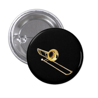 """""""Trombone"""" design gifts and products Button"""