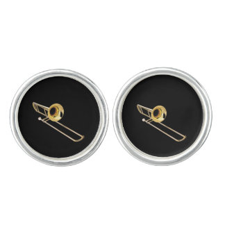 """Trombone"" design gifts and products Cufflinks"