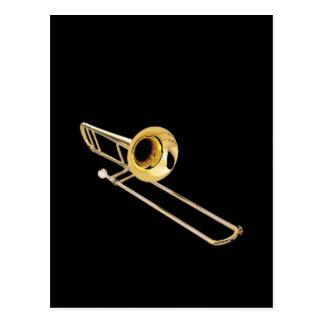 """""""Trombone"""" design gifts and products Postcard"""