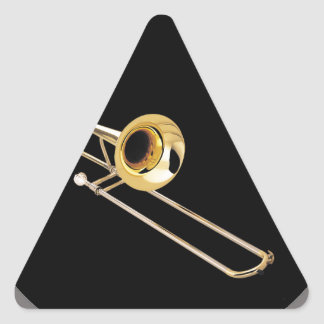 """""""Trombone"""" design gifts and products Triangle Sticker"""