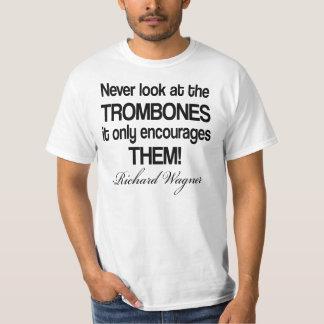 Trombone divertido de la cita de Wagner Playera