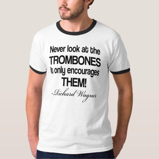 Trombone divertido de la cita de Wagner Poleras