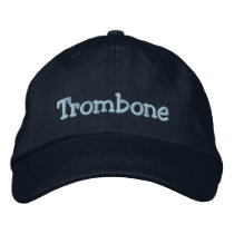 Trombone Embroidered Baseball Cap