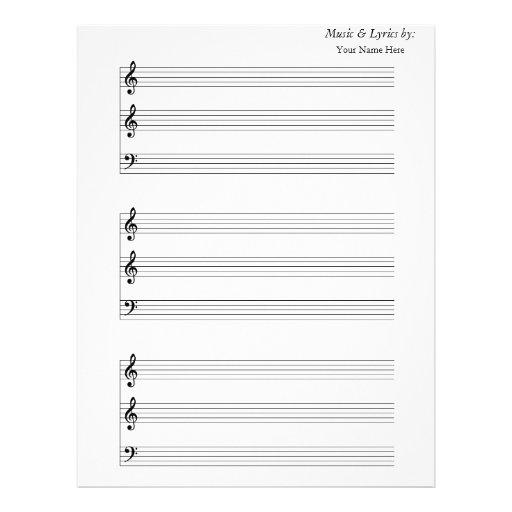 Trombone en blanco de la trompeta de la partitura membrete