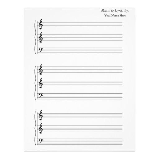 Trombone en blanco de la trompeta de la partitura membretes personalizados